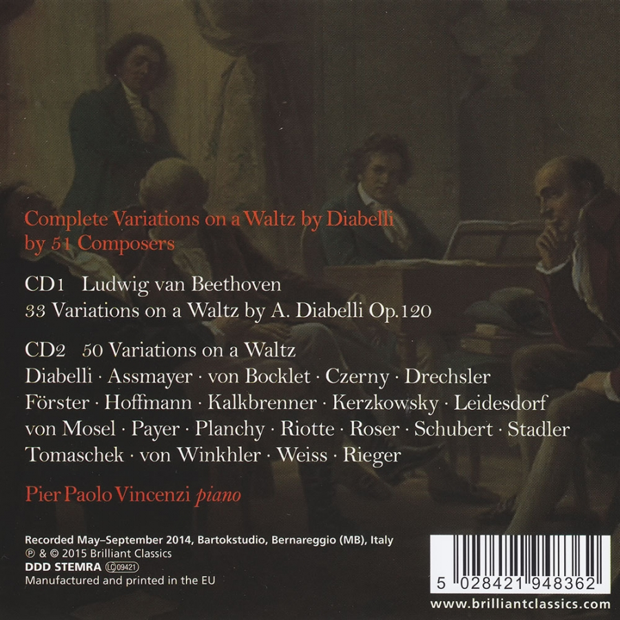 Complete Variations On A Waltz By Diabelli By 51 Composers